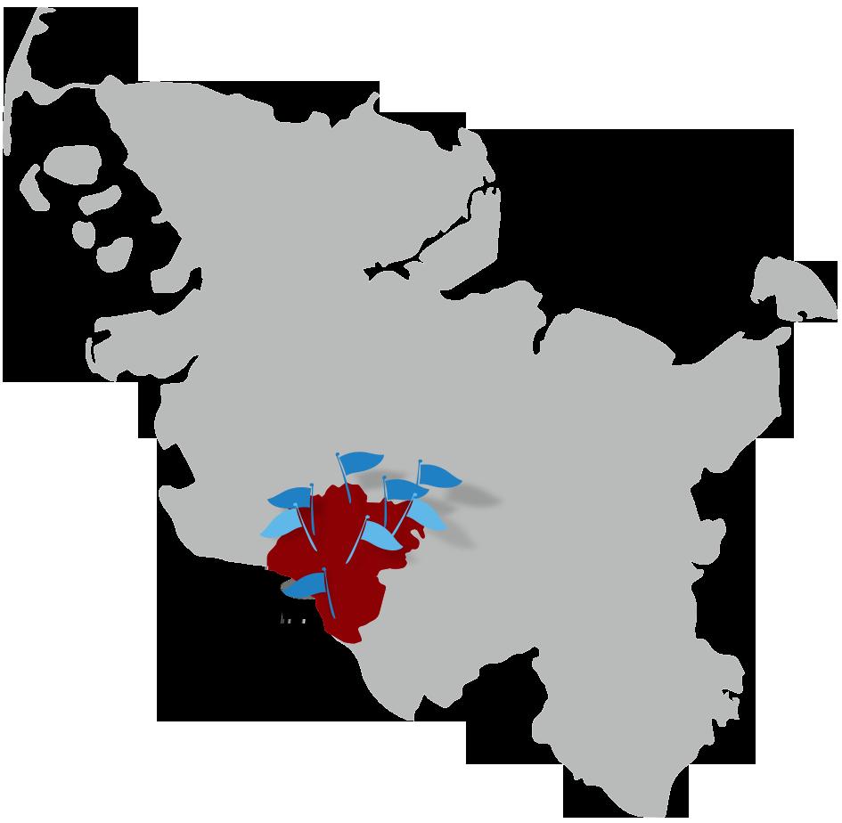 Karte des Kreis Steinburg